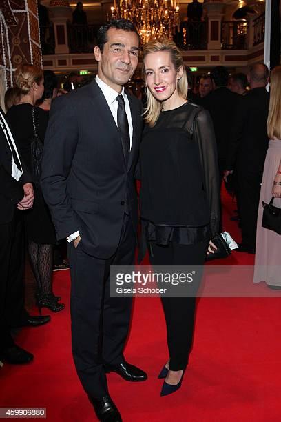 Erol Sander and his wife Caroline during the Audi Generation Award 2014 at Hotel Bayerischer Hof on December 3 2014 in Munich Germany