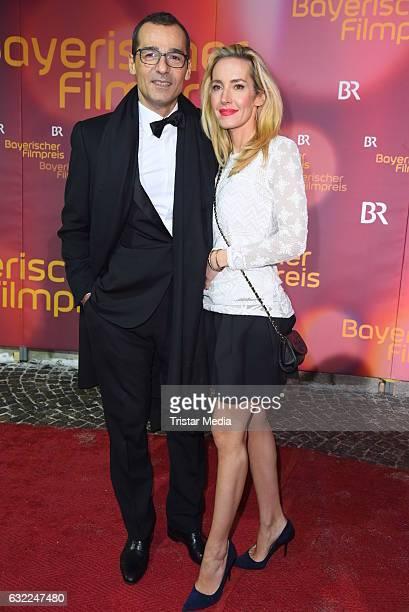Erol Sander and his wife Caroline Godet attend the Bayerischer Filmpreis 2017 at Prinzregententheater on January 20 2017 in Munich Germany