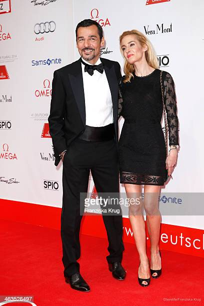 Erol Sander and his wife Caroline Sander attend the German Film Ball 2014 on January 18 2014 in Munich Germany