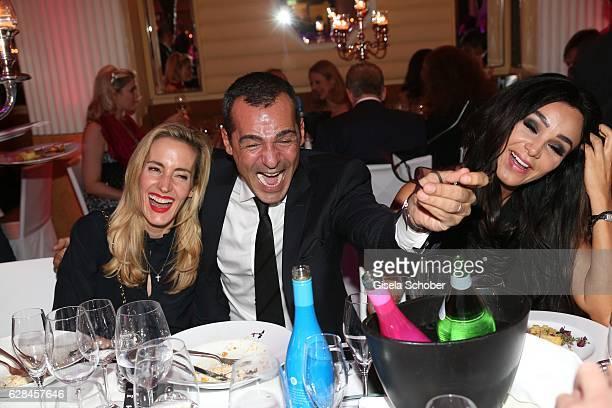 Erol Sander and his wife Caroline Sander Goddet and Verona Pooth during the 10th Audi Generation Award 2016 at Hotel Bayerischer Hof on December 7...