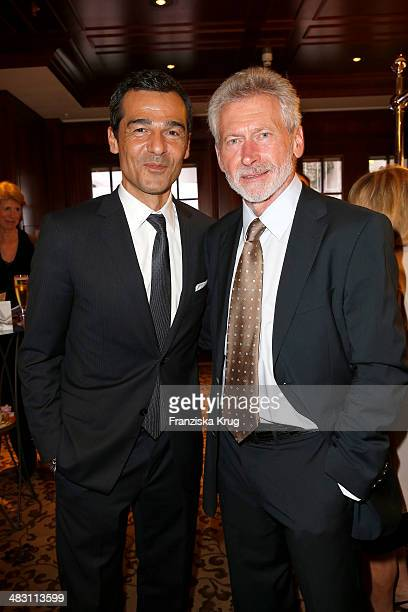 Erol Sander and Paul Breitner attend the Felix Burda Award 2014 at Hotel Adlon on April 06 2014 in Berlin Germany
