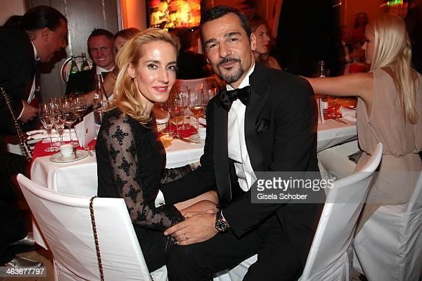 Erol Sander and wife Caroline attend the German Film Ball 2014 at Hotel Bayerischer Hof on January 18 2014 in Munich Germany
