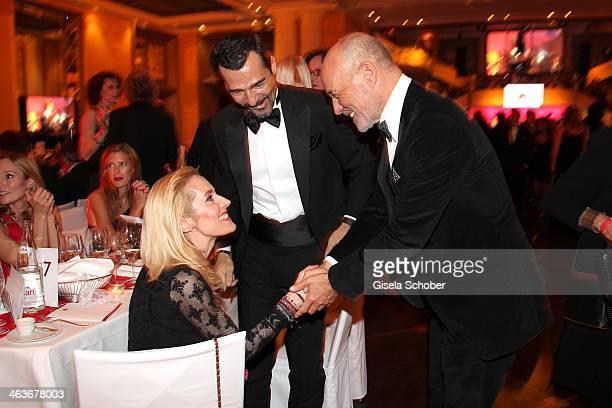 Erol Sander and wife Caroline Heiner Lauterbach attend the German Film Ball 2014 at Hotel Bayerischer Hof on January 18 2014 in Munich Germany