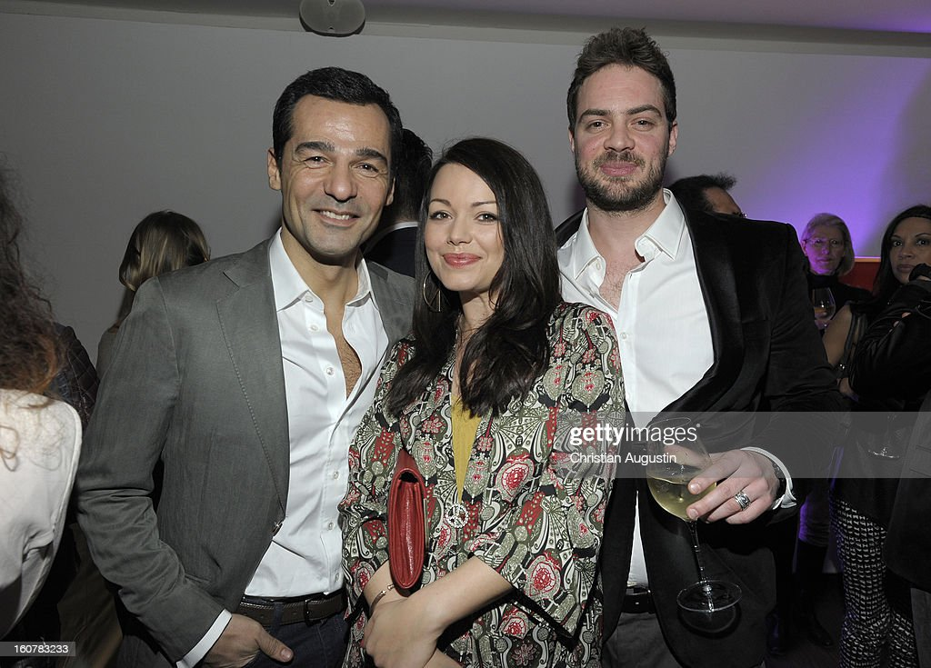 Erol Sander (i), Cosma Shiva Hagen and Philipp von Eschwede attend the 'Monday Mornings' Preview Event of TNT Serie at East Hotel on February 5th, 2013 in Hamburg, Germany. The series premieres on February 7th (every Thursday at 8:15 pm on TNT Serie).