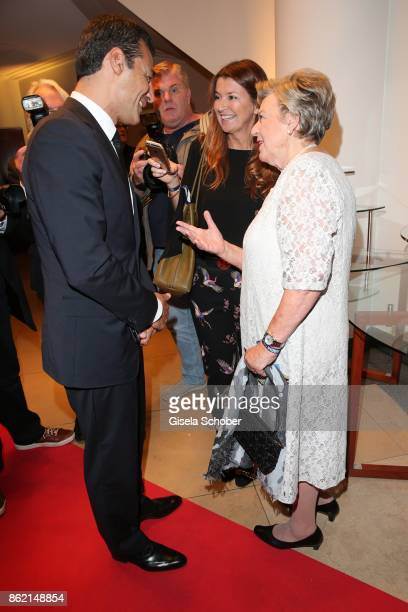 Erol Sander Martina Klose editor Neue Welt and MarieLuise Marjan during the 2oth 'Busche Gala' at The Charles Hotel on October 16 2017 in Munich...