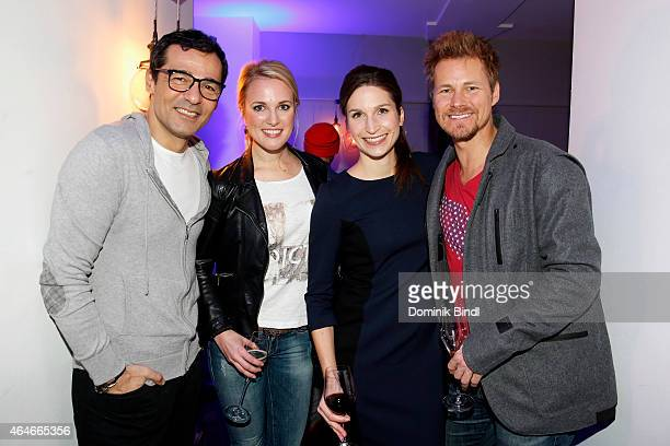 Erol Sander Ruth Hofmann Laura Lutz and Gregor Teicher attend the 'House of Cards' Season 3 German Premiere on February 27 2015 in Munich Germany