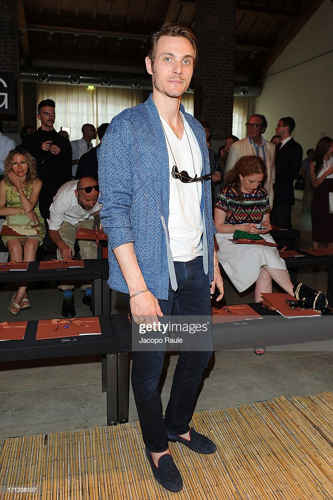Eros Galbiati attends the Missoni Collection show during Milan Menswear Fashion Week Spring Summer 2014 on June 23, 2013 in Milan, Italy.