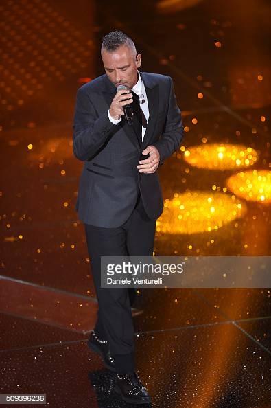Eros Ramazzotti attends second night of the 66th Festival di Sanremo 2016 at Teatro Ariston on February 10 2016 in Sanremo Italy