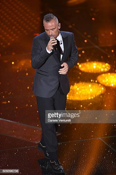 Eros Ramazzotti attends second night of the 66th Festival di Sanremo 2016 at Teatro Ariston on February 10 2016 in Sanremo Italy
