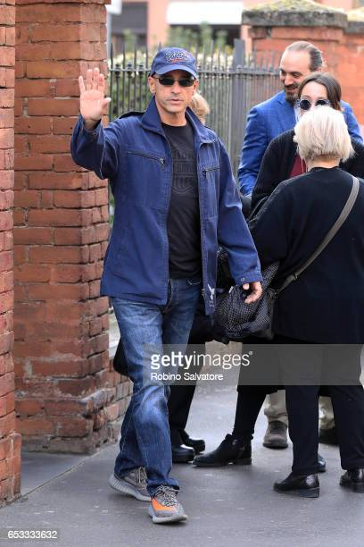 Eros Ramazzotti is seen on March 14 2017 in Milan Italy