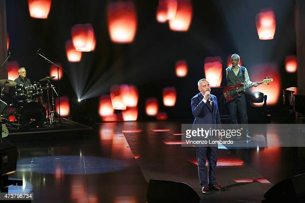 Eros Ramazzotti performs at 'Che Tempo Che Fa' TV Show on May 17 2015 in Milan Italy