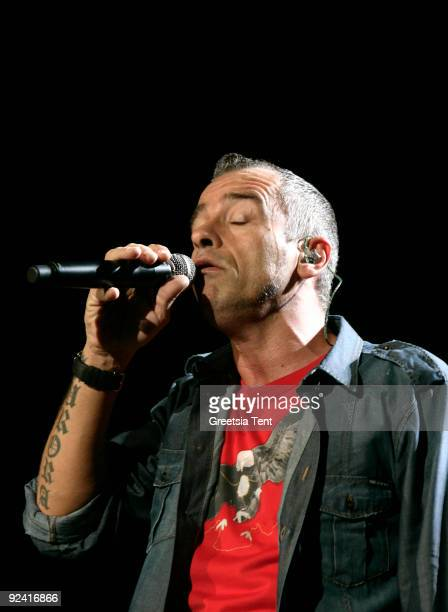 Eros Ramazzotti performs live at Ahoy on October 27 2009 in Rotterdam Netherlands