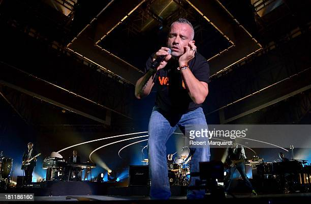 Eros Ramazzotti performs on stage for the 'Noi World Tour 2013' at the Palau Sant Jordi on September 19 2013 in Barcelona Spain