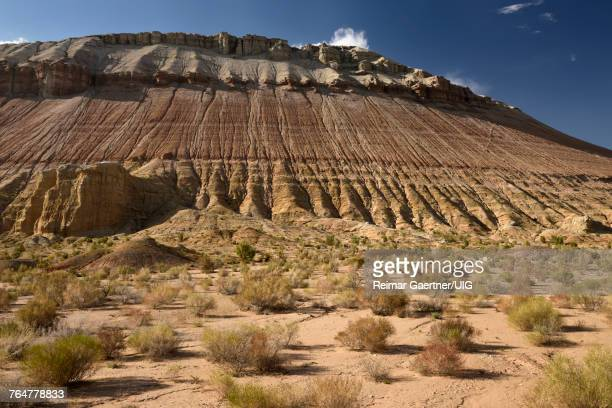 Erosion of white and red clay Aktau mountains Altyn Emel National Park Kazakhstan