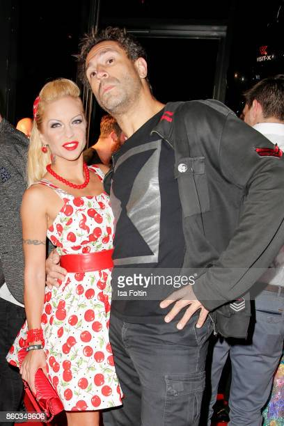 Erotic model Biggi Bardot and US musician Jared Hasselhoff attends the 'Nights of The Nights' event at Amano Grand Central on October 11 2017 in...