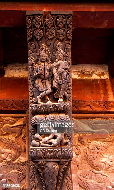 Erotic Wood Carvings, Pashupatinath Temple, Bhaktapur, Nepal
