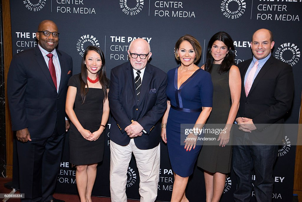 Errol Louis, Amanda Terkel, Ed Rollins, Maria Elena Salinas, Maureen J. Reidy and Brian Stelter attend The Paley Center For Media Presents As The Nation Decides: Why The Presidential Debates Matter at The Paley Center for Media on September 15, 2016 in New York City.