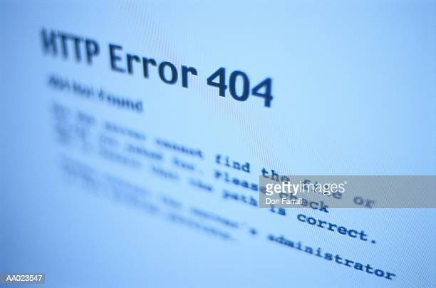 HTTP Error Message on a Computer Screen