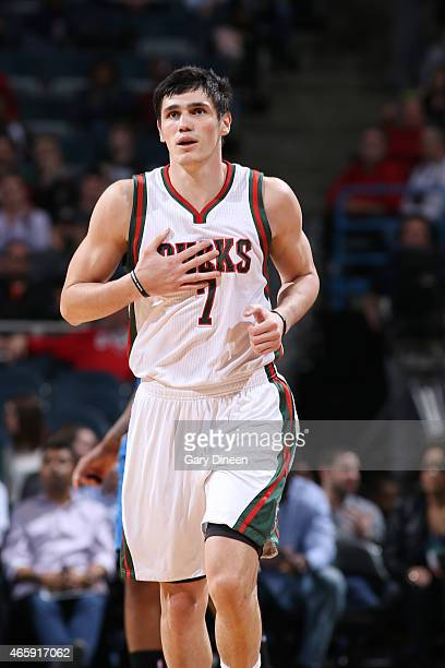 Ersan Ilyasova of the Milwaukee Bucks during the game against the Orlando Magic on March 11 2015 at BMO Harris Bradley Center in Milwaukee Wisconsin...