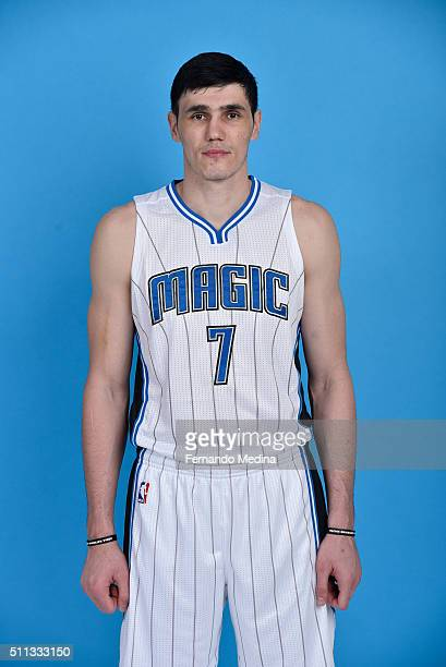 Ersan Ilyasova of the Orlando Magic poses for a portrait on February 18 2016 at Amway Center in Orlando Florida NOTE TO USER User expressly...