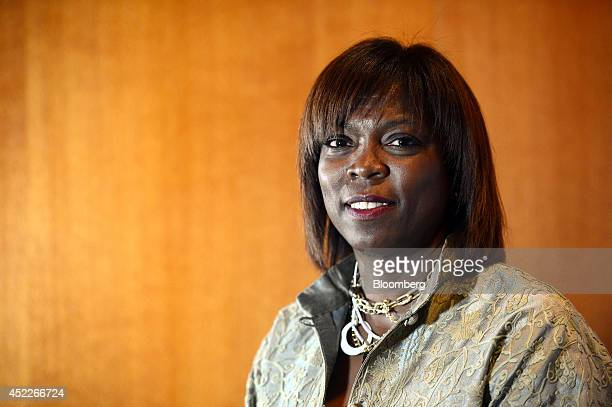 Ertharin Cousin executive director of the United Nations World Food Program poses for a photograph at the B20 Australia Summit in Sydney Australia on...