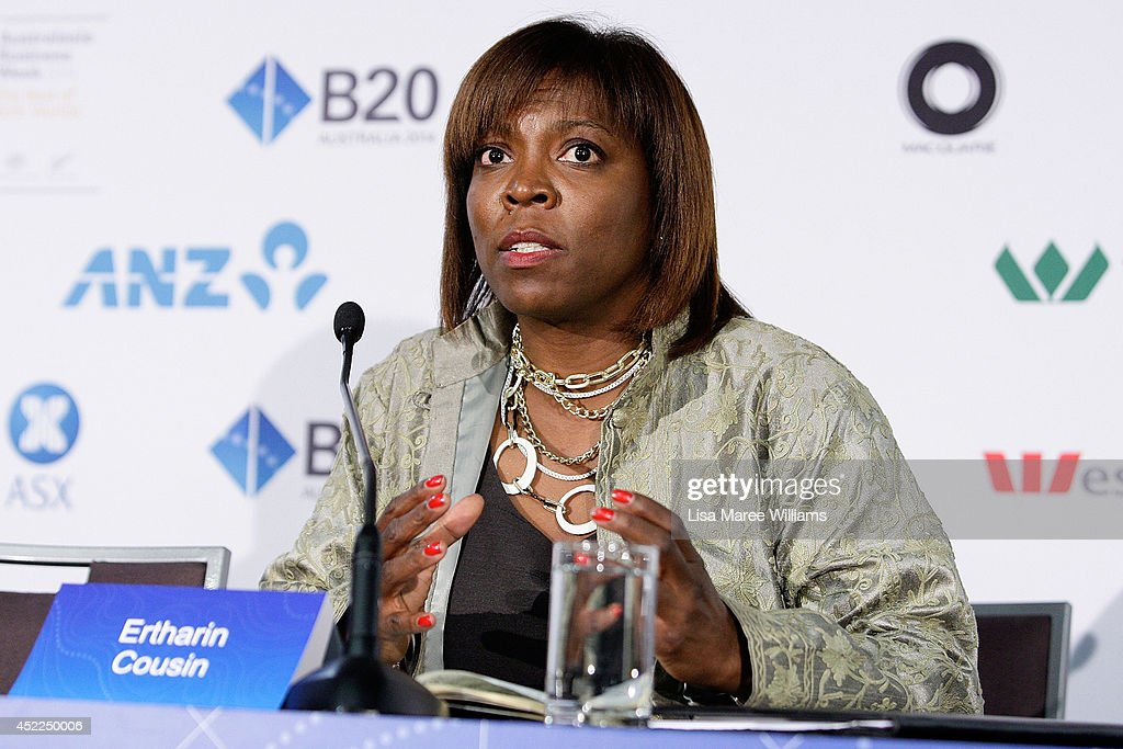 <a gi-track='captionPersonalityLinkClicked' href=/galleries/search?phrase=Ertharin+Cousin&family=editorial&specificpeople=9100430 ng-click='$event.stopPropagation()'>Ertharin Cousin</a>, Executive Director World Food Program attends a press conference during the B20 Summit on July 17, 2014 in Sydney, Australia. Over 350 business leaders have gathered in Sydney for the 2014 B20 Summit to discuss and determine policy recommendations ahead of the G20 Leaders Meeting in Brisbane later this year.