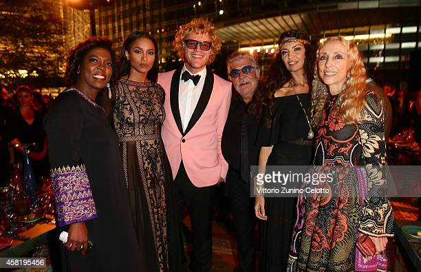 Ertharin Cousine Ciara Peter Dundas Roberto Cavalli Afef Jnifen and Franca Sozzani attend the Gala Event during the Vogue Fashion Dubai Experience on...
