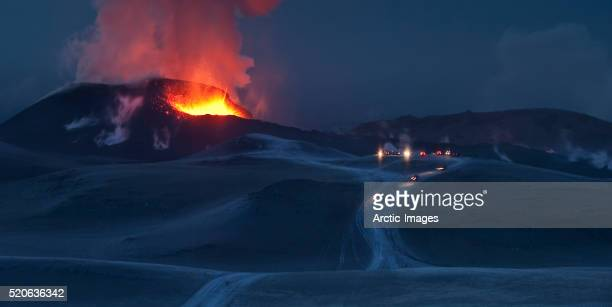 Eruption at Eyjafjallajokull glacier