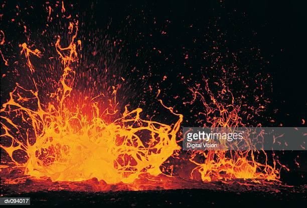 Eruption of Lava