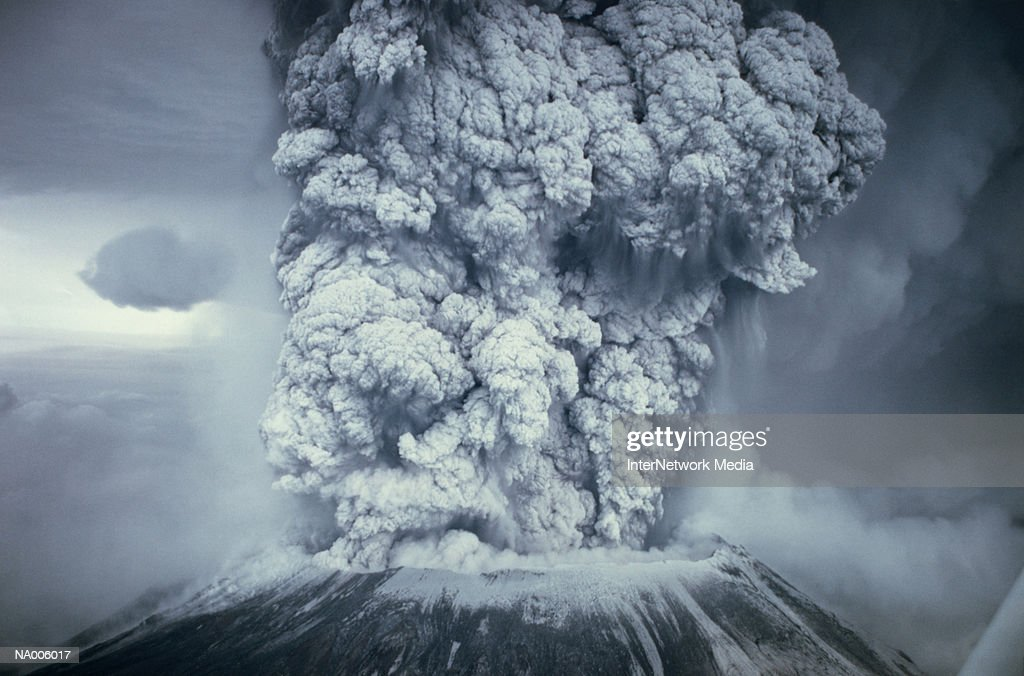 Eruption of Mount St Helens : Stock Photo