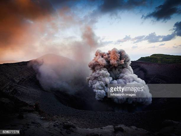 Eruption of Mt Yasur volcano on Tanna, Vanuatu