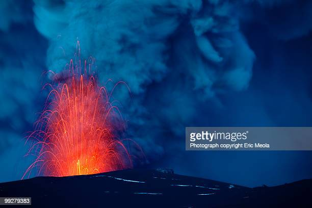 Eruption of the Eyjafjallajökull volcano.