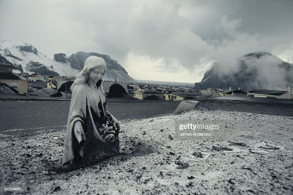 Eruption of the Helgafell Volcano on the island of Heimaey in the Vestmann isles to the south of Iceland 150 m from the town of Vetmannaeyjar The...