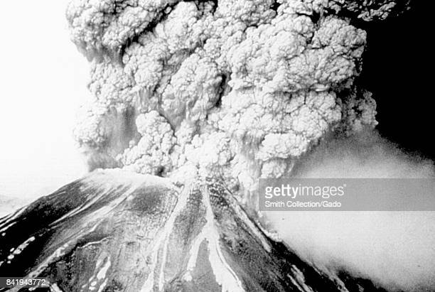 Eruption of the volcano Mount St Helens which became the epicenter of an earthquake measuring 51 on the Richter scale May 18 1980 Image courtesy CDC
