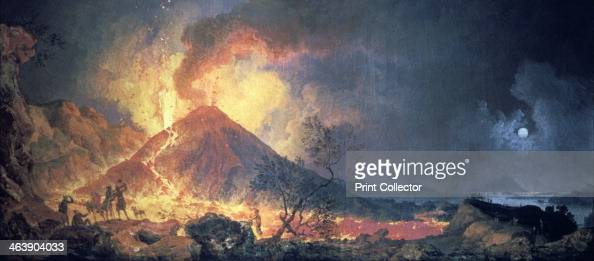 Eruption of vesuvius 1770s artist pierre jacques volaire