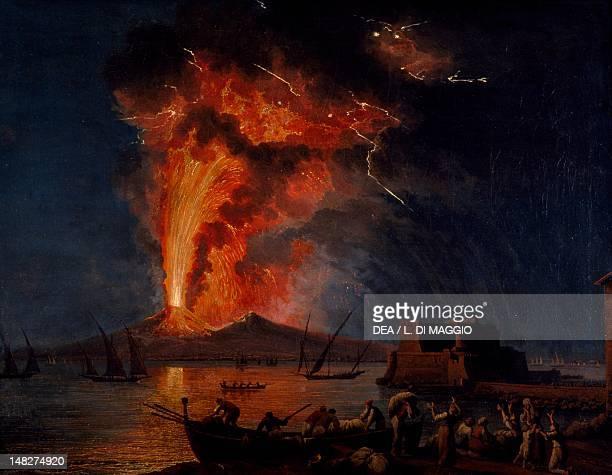 Eruption of Vesuvius by Jacob Philipp Hackert Naples Museo Nazionale Di Capodimonte