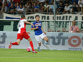 Ervin Zukanovic during the preliminary of Europa League match between UC Sampdoria and FK Vojvodina at the Olympic Stafium of Turin on july 30 2015...