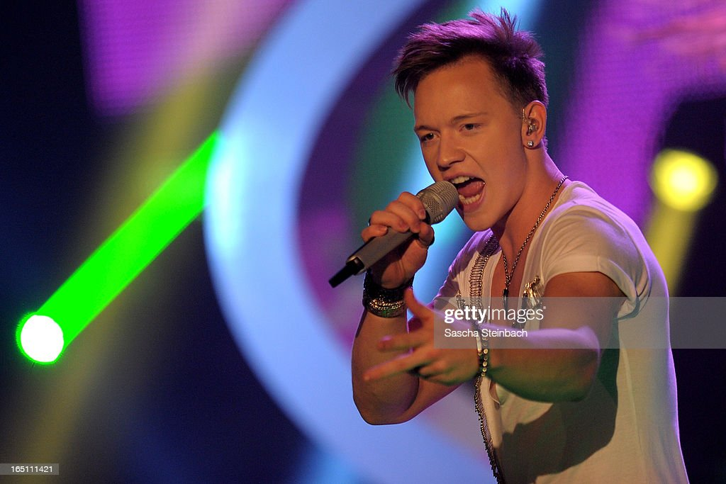 Erwin Kintop performs during the rehearsal of the third 'Deutschland sucht den Superstar' Show at Coloneum on March 30, 2013 in Cologne, Germany.