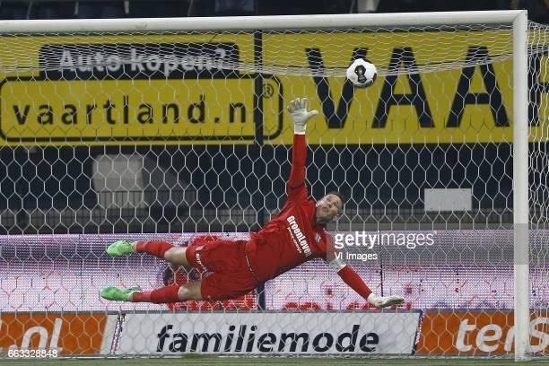 Erwin Mulder of Heerenveenduring the Dutch Eredivisie match between Heracles Almelo and sc Heerenveen at Polman stadium on April 01 2017 in Almelo...