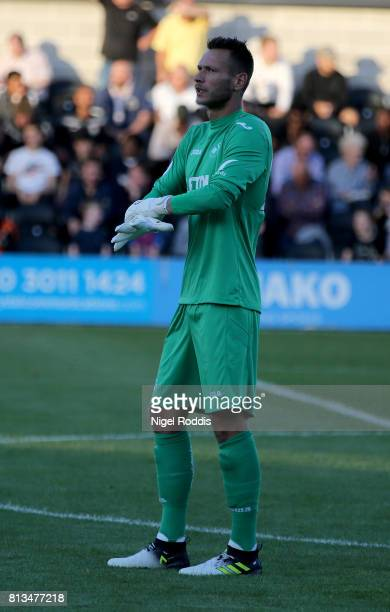 Erwin Mulder of Swansea City during the pre season friendly match between Barnet and Swansea City at The Hive on July 12 2017 in Barnet England