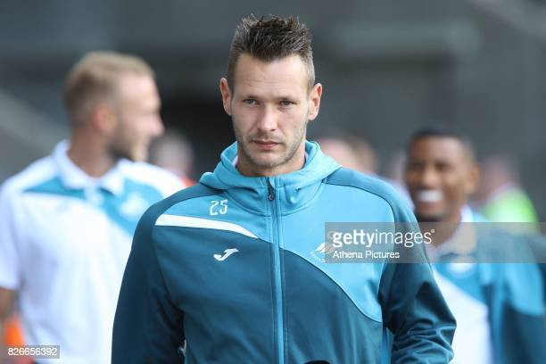 Erwin Mulder of Swansea City prior to kick off of the preseason friendly match between Swansea City and Sampdoria at The Liberty Stadium on August 5...