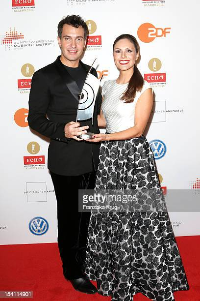 Erwin Schrott and Nazan Eckes attend the Echo Klassik 2012 award ceremony at Konzerthaus Berlin on October 14 2012 in Berlin Germany