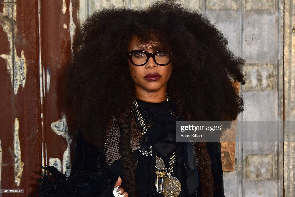 Erykah Badu attends the Givenchy show during Spring 2016 New York Fashion Week at Pier 26 on September 11, 2015 in New York City.