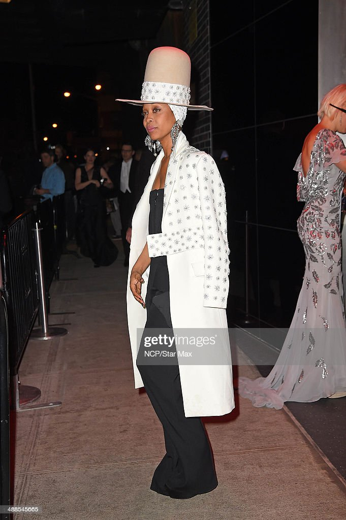 Erykah Badu is seen at the after-party for The Costume Institute Benefit Gala on May 5, 2014 in New York City.