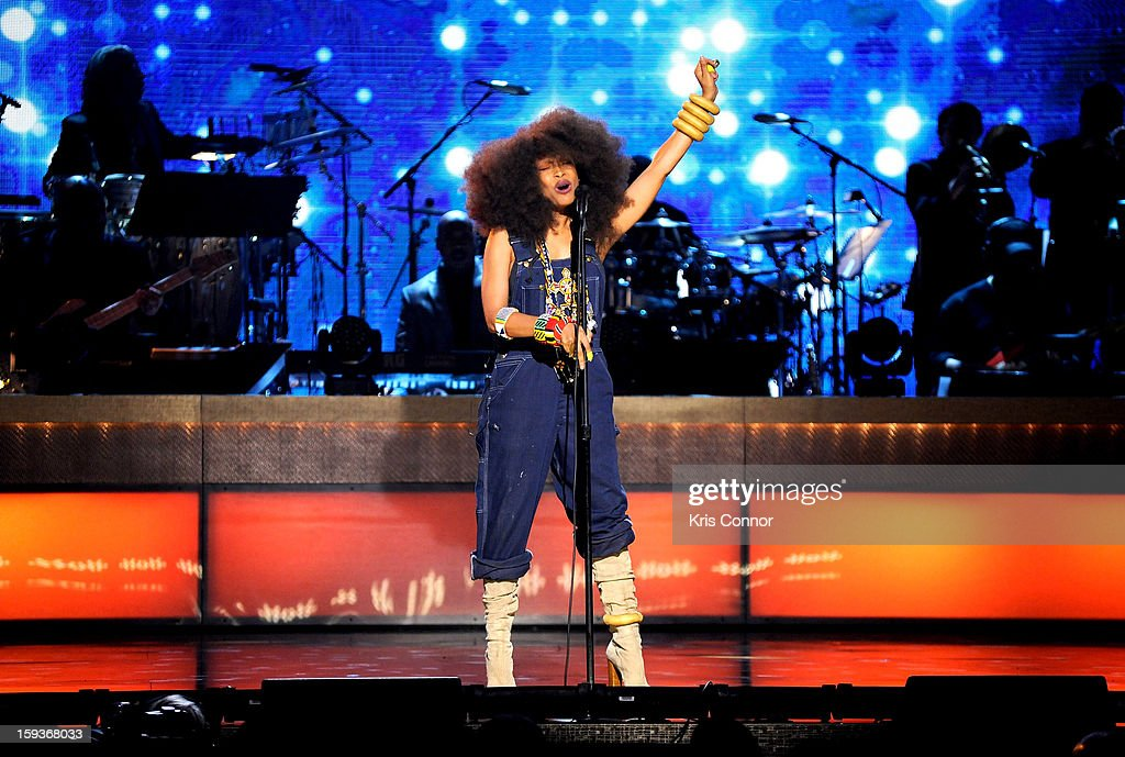 Erykah Badu performs at BET Honors 2013 at Warner Theatre on January 12, 2013 in Washington, DC.