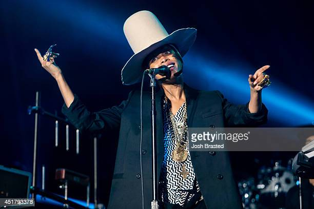 Erykah Badu performs at the 2014 Essence Music Festival on July 6 2014 in New Orleans Louisiana
