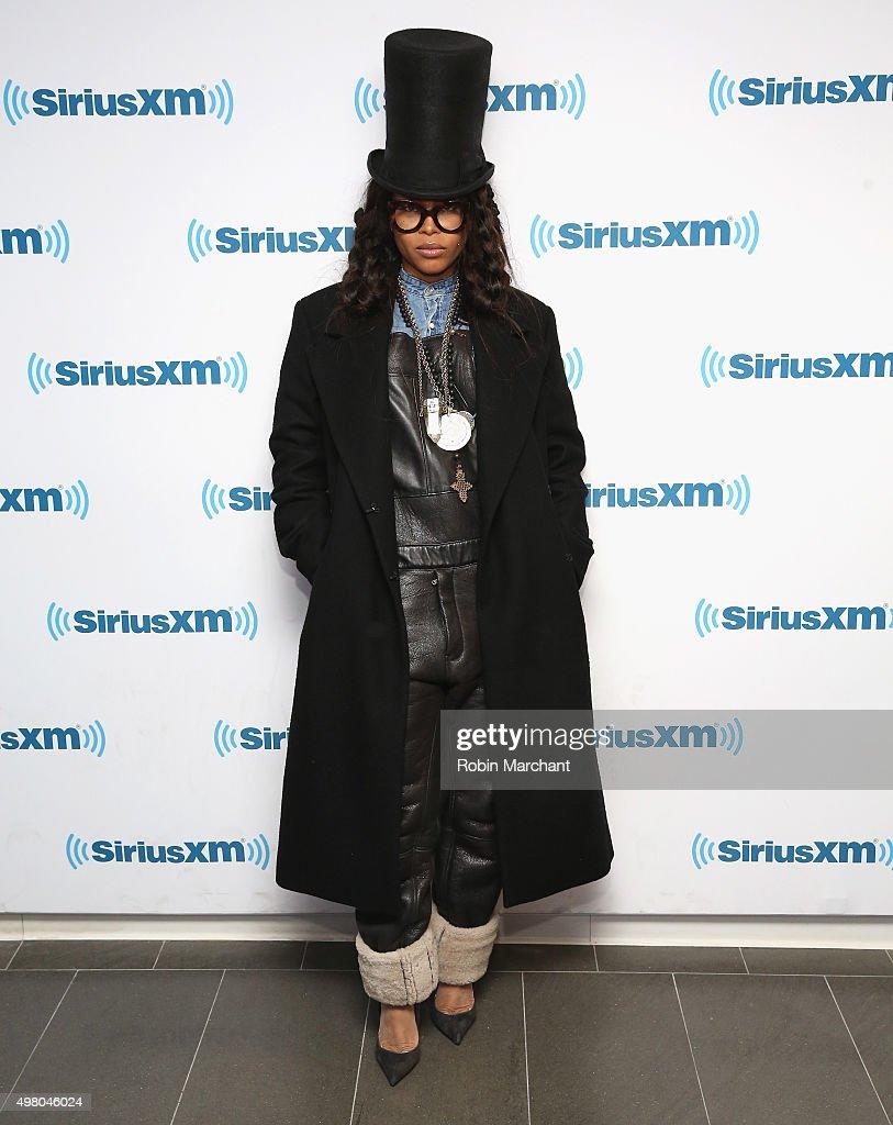 Erykah Badu visits at SiriusXM Studios on November 20 2015 in New York City