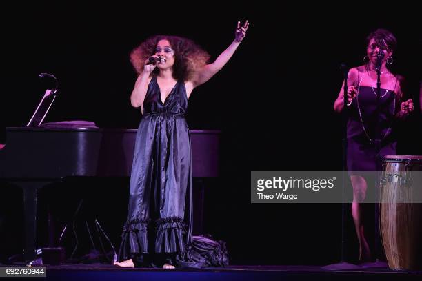 Eryn Allen Kane performs onstage during the 2017 CFDA Fashion Awards at Hammerstein Ballroom on June 5 2017 in New York City