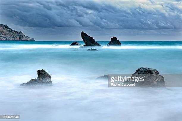 Es Figueral beach. Ibiza, Balearic Islands, Spain