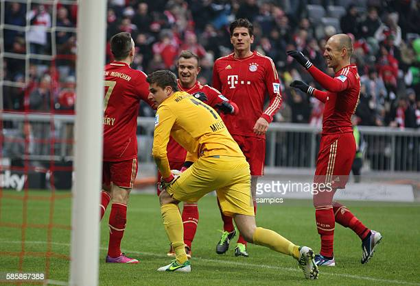 es war zum verzweifeln fprSebastian Mielitz SV Werder Bremen während Franck RIBERY FC Bayern München Xherdan Shaqiri FC Bayern München Mario GOMEZ FC...